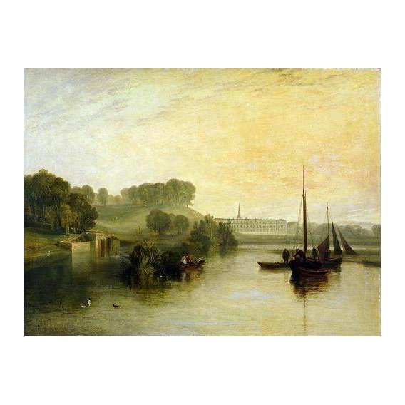 pinturas de paisagens marinhas - Quadro -Petworth, Sussex, The Sea of the Earl of Egremont-