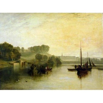 Tableaux de paysages marins - Tableau -Petworth, Sussex, The Sea of the Earl of Egremont- - Turner, Joseph M. William
