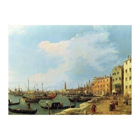 pinturas de paisagens marinhas - Quadro -The Riva Degli Schiavoni, 1724-30-