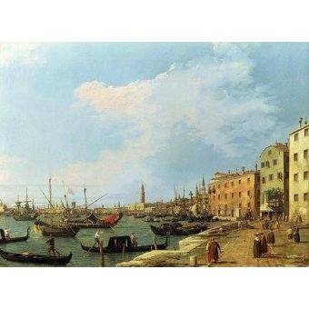 Tableaux de paysages marins - Tableau -The Riva Degli Schiavoni, 1724-30- - Canaletto, Giovanni A. Canal
