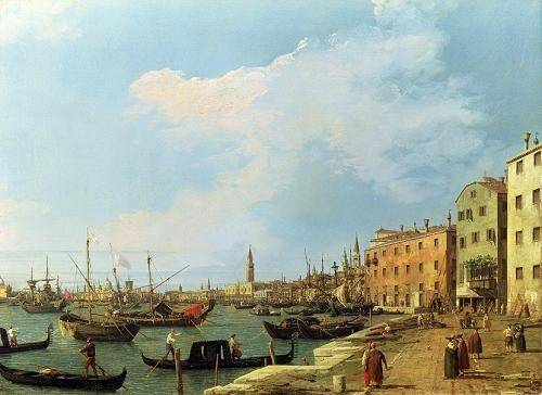 tableaux-de-paysages-marins - Tableau -The Riva Degli Schiavoni, 1724-30- - Canaletto, Giovanni A. Canal