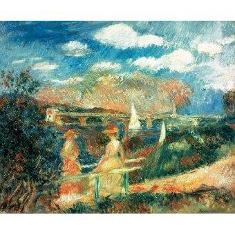 Tableaux de paysages marins - Tableau -Les berges de la Seine à Argenteuil, 1880- - Renoir, Pierre Auguste