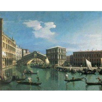 Tableaux de paysages marins - Tableau -The Rialto Bridge, Venice- - Canaletto, Giovanni A. Canal