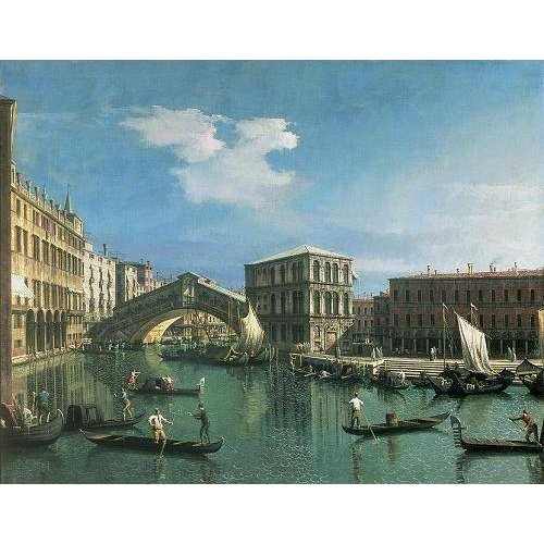 Tableau -The Rialto Bridge, Venice-