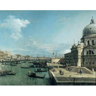 Tableaux de paysages marins - Tableau -The Entrance to the Grand Canal, Venice- - Canaletto, Giovanni A. Canal