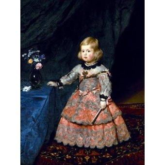 - Tableau -Retrato de la Infanta Margarita a la edad de tres años- - Velazquez, Diego de Silva