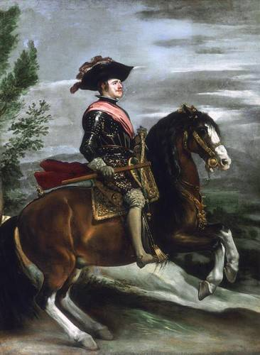 tableaux-de-personnages - Tableau -Felipe IV, Rey de España- - Velazquez, Diego de Silva