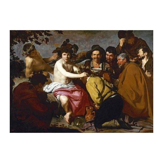 pinturas do retrato - Quadro -Los borrachos (El triunfo de Baco)-