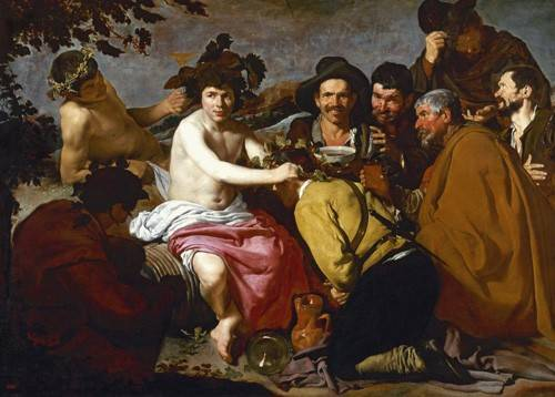 tableaux-de-personnages - Tableau -Los borrachos (El triunfo de Baco)- - Velazquez, Diego de Silva