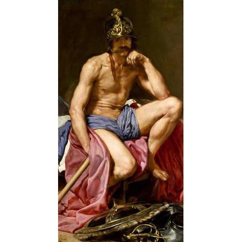 pinturas do retrato - Quadro -El dios Marte-