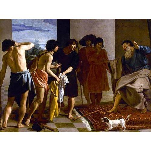 pinturas do retrato - Quadro -La túnica de José-