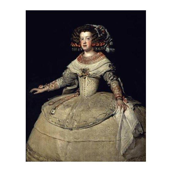 pinturas do retrato - Quadro -Retrato de la Infanta Maria Teresa, hija del Rey Felipe IV-