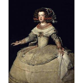 - Tableau -Retrato de la Infanta Maria Teresa, hija del Rey Felipe IV- - Velazquez, Diego de Silva