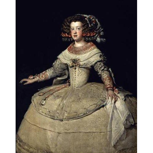 Tableau -Retrato de la Infanta Maria Teresa, hija del Rey Felipe IV-