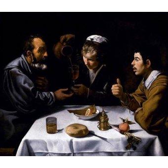 - Tableau -El almuerzo- - Velazquez, Diego de Silva