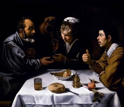 tableaux-de-personnages - Tableau -El almuerzo- - Velazquez, Diego de Silva