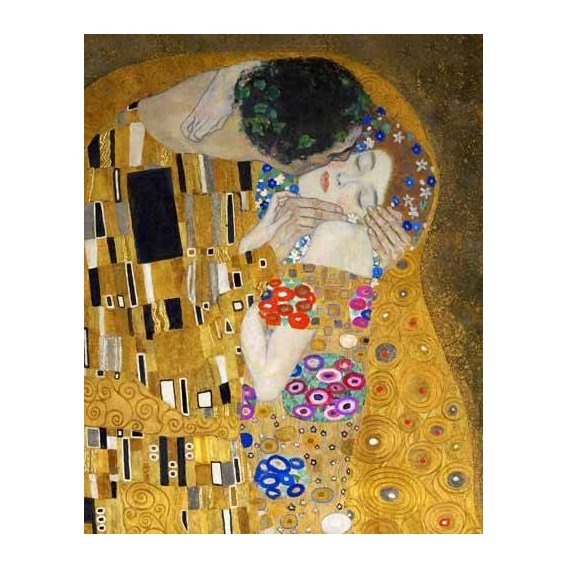 pinturas do retrato - Quadro -El beso (detalle)-
