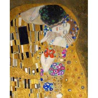 Tableaux de Personnages - Tableau -Le Baiser (détail)- - Klimt, Gustav