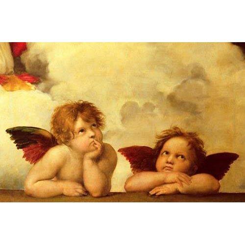 imagens religiosas - Quadro -Los dos angeles-