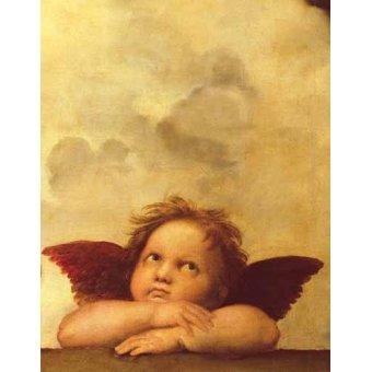 Tableaux religieuses - Tableau -Les deux anges (détail de l'ange droit)- - Raphaël, Sanzio da Urbino Raffael