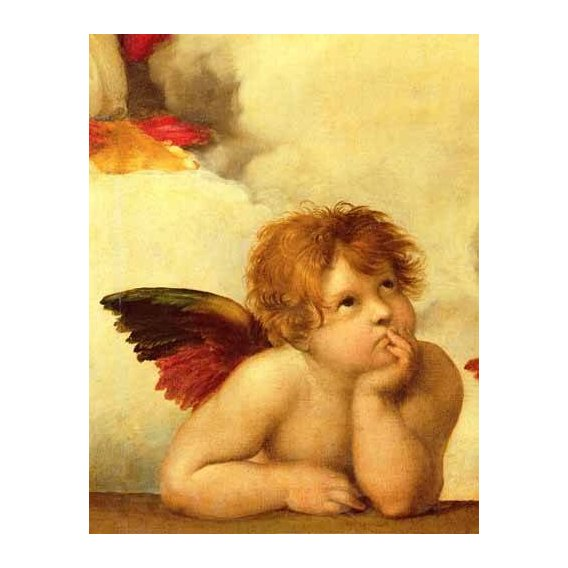 imagens religiosas - Quadro -Los dos angeles (detalle angel izqda).-
