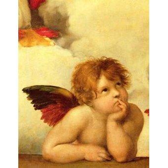 Tableaux religieuses - Tableau -Les deux anges (détail ange gauche)- - Raphaël, Sanzio da Urbino Raffael