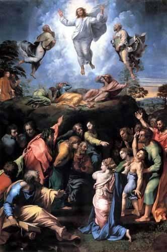 tableaux-religieuses - Tableau -The Transfiguration- - Raphaël, Sanzio da Urbino Raffael