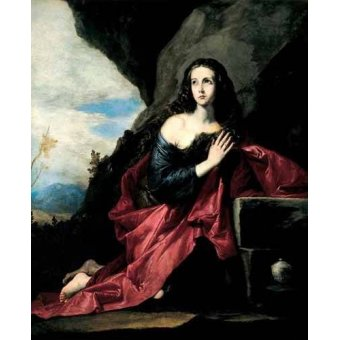 Tableaux religieuses - Tableau -Maria Magdalena, Penitente- - Ribera, Jose de