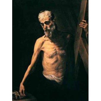 Tableaux religieuses - Tableau -San Andrés- - Ribera, Jose de