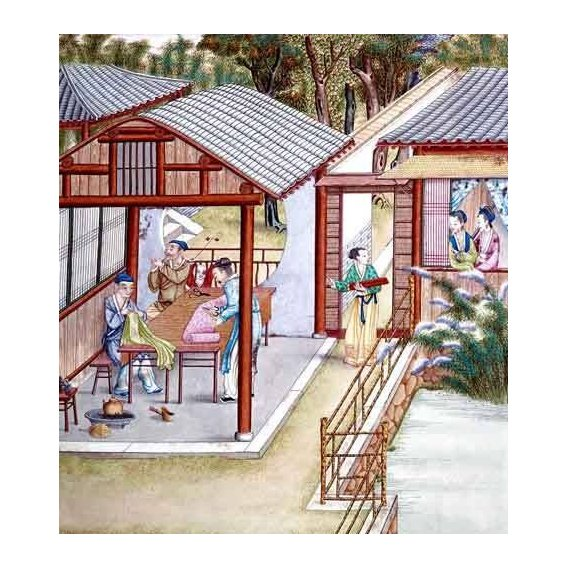 imagens étnicas e leste - Quadro -Despacho de un comerciante de telas-