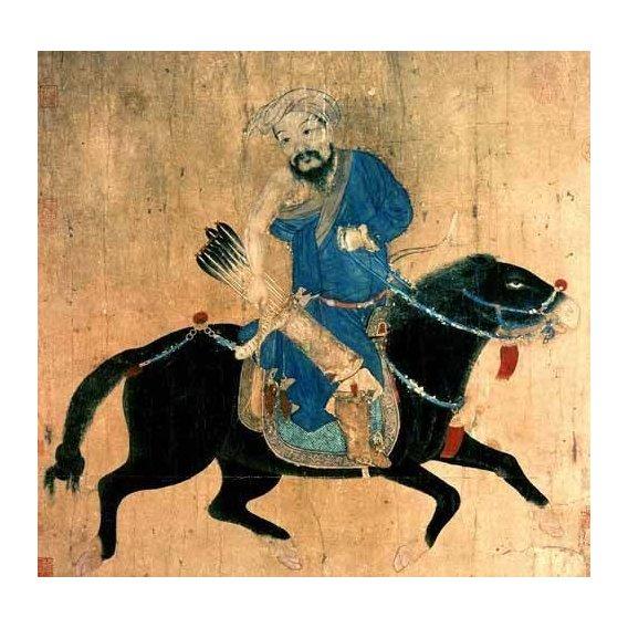 imagens étnicas e leste - Quadro -Arquero Mongolo a caballo-