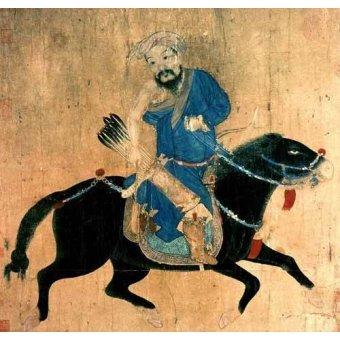 Tableaux orientales - Tableau -Arquero Mongolo a caballo- - _Anónimo Chino
