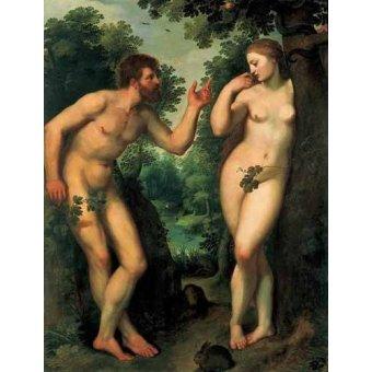 Tableaux religieuses - Tableau -Adán y Eva- - Rubens, Peter Paulus