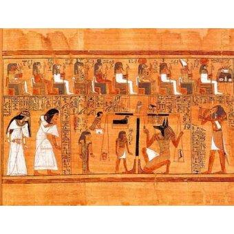 Tableaux orientales - Tableau -Libro de los muertos (de Ani): El Tribunal de los Dioses- - _Anónimo Egipcio