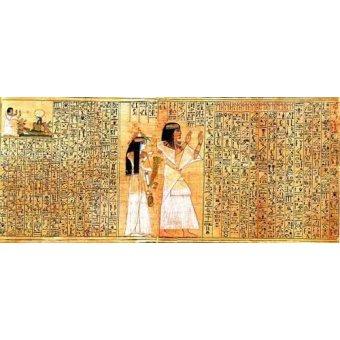 Tableaux orientales - Tableau -Libro de los muertos (de Ani): Osiris- - _Anónimo Egipcio