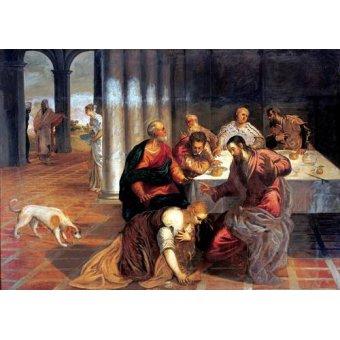 Tableaux religieuses - Tableau -La conversión de Magdalena- - Tintoretto, Jacopo Robusti