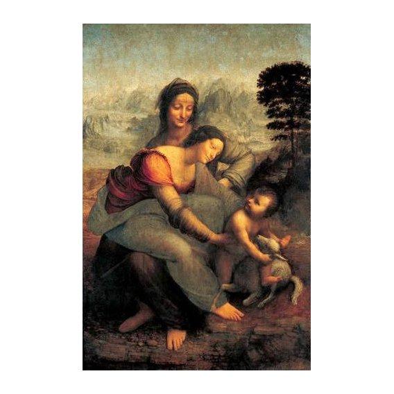 imagens religiosas - Quadro -La Virgen, el Niño y Santa Ana con un cordero-