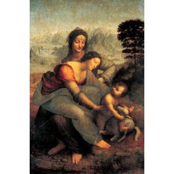 Tableau -La Virgen, el Niño y Santa Ana con un cordero-