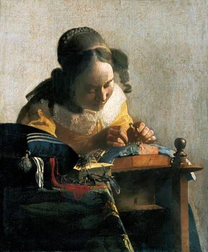tableaux-de-personnages - Tableau -La Dentellière- - Vermeer, Johannes