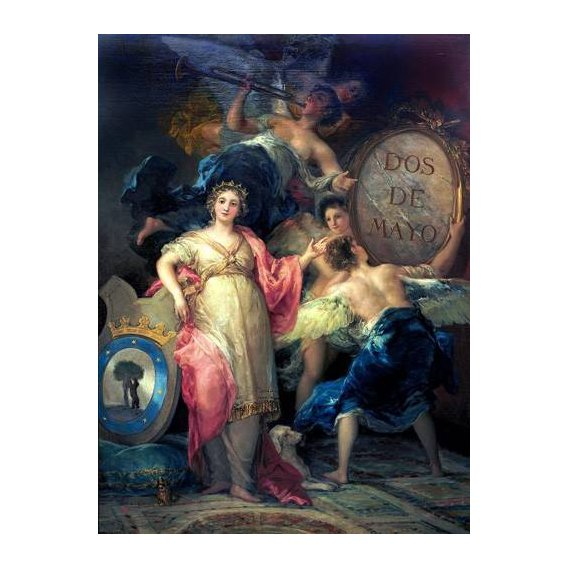 pinturas do retrato - Quadro -Alegoría de la Villa de Madrid-