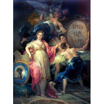 Tableaux de Personnages - Tableau -Alegoría de la Villa de Madrid- - Goya y Lucientes, Francisco de