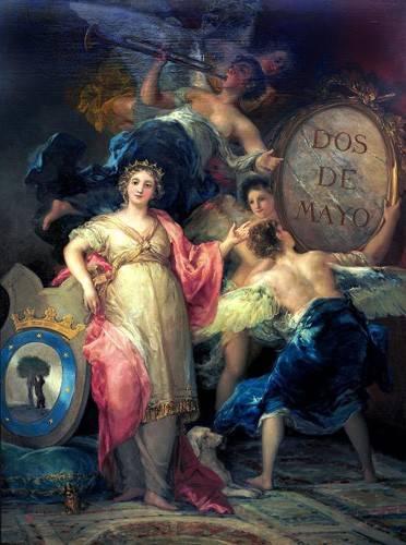 tableaux-de-personnages - Tableau -Alegoría de la Villa de Madrid- - Goya y Lucientes, Francisco de