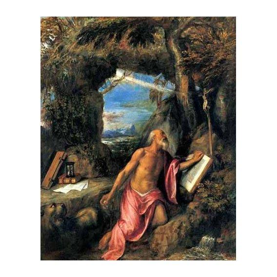 imagens religiosas - Quadro -San Jerónimo en penitencia-