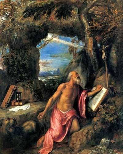 tableaux-religieuses - Tableau -San Jerónimo en penitencia- - Tiziano, Tiziano Vecellio