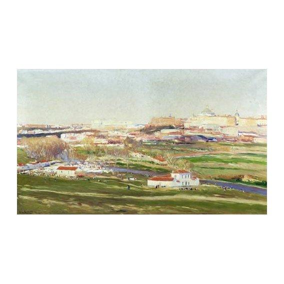 pinturas de paisagens - Quadro -Pradera de San Isidro - Madrid-