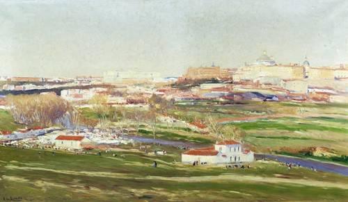 tableaux-de-paysages - Tableau -Pradera de San Isidro - Madrid- - Beruete, Aureliano de