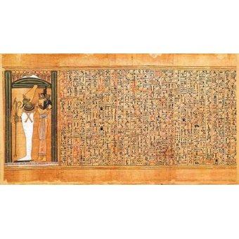 Tableaux orientales - Tableau -Libro de los muertos (de Ani): Osiris e Isis- - _Anónimo Egipcio