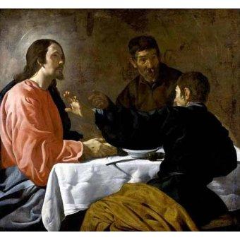 Tableaux religieuses - Tableau -La cena en Emmaus- - Velazquez, Diego de Silva