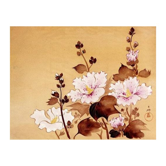 imagens étnicas e leste - Quadro -Flores blancas-