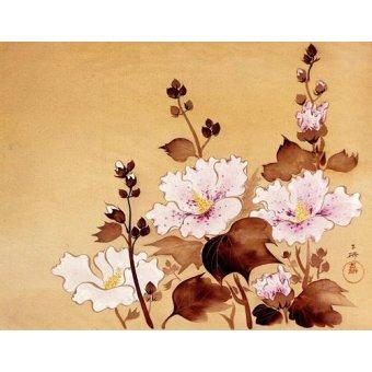 Tableaux orientales - Tableau -Flores blancas- - _Anónimo Chino